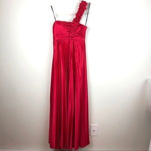 City Triangles Red One Shoulder Prom Dress 3